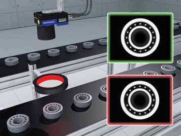 Photo of A-Series smart camera in use for automotive bearing inspection
