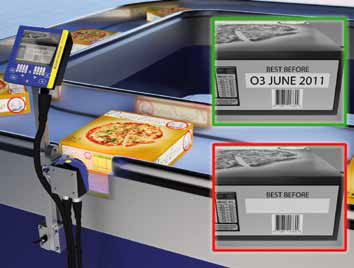 DataVS2 in use for food packaging inspection