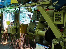 Vision guided axle welding