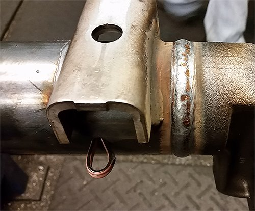 Vision guided axle welding - final weld